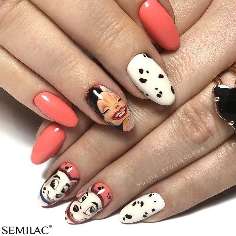 Bom Dia Gostam Cores Usadas 001 Strong White 102 Pastel Peach 031 Black Diamond 030 Dark Chocolate 019 Blue Lagoon 0 Disney Nails Nail Art Nails