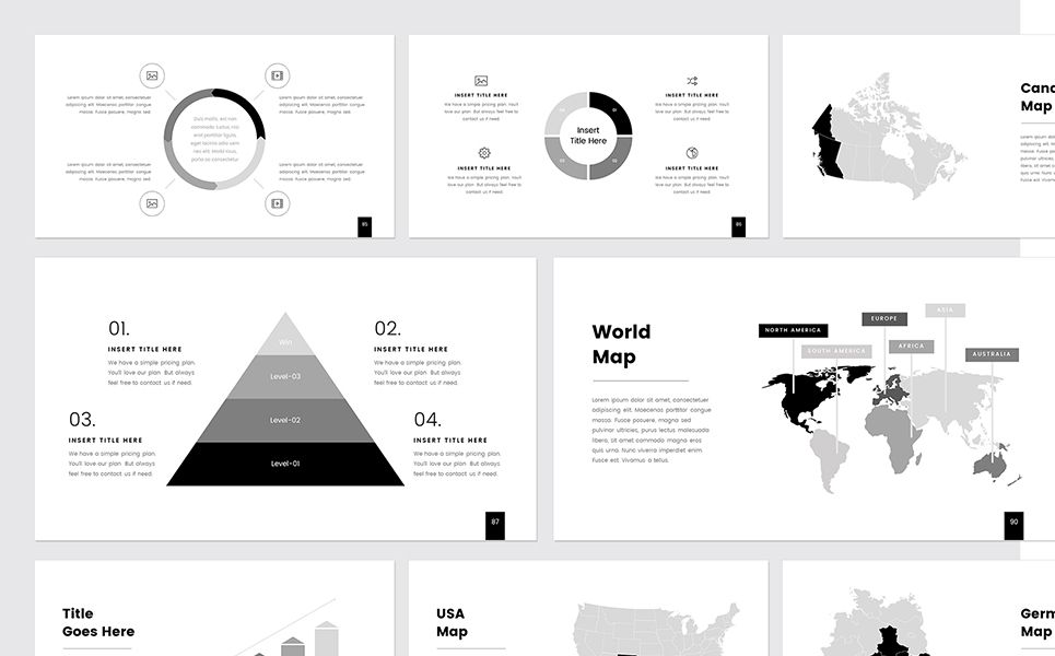 Prothom Creative And Minimal Powerpoint Template Powerpoint