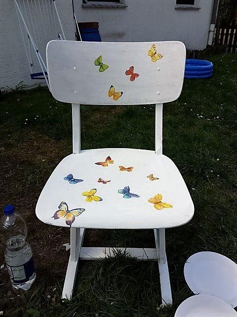 Kinder Stuhl Stuhle Serviettentechnik Kinder