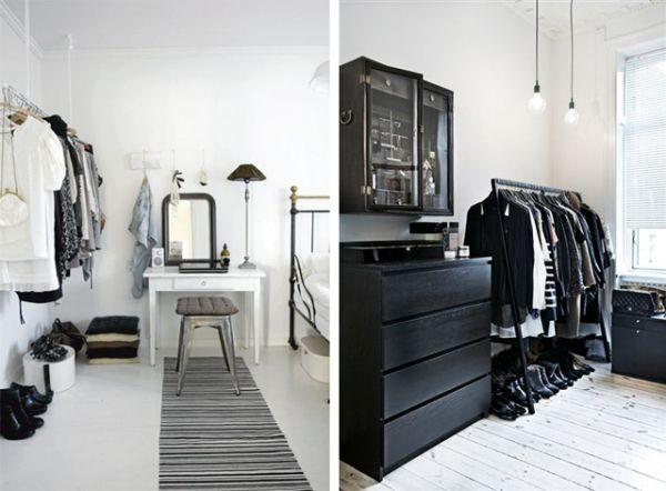 Zimmerideen und Raumsparlösungen-Kleiderschrank selber bauen ohne - begehbarer kleiderschrank kleines schlafzimmer
