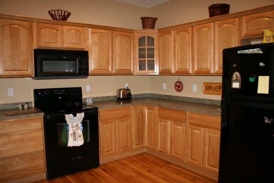 kitchen paint color ideas with oak cabinets | kitchen countertops in