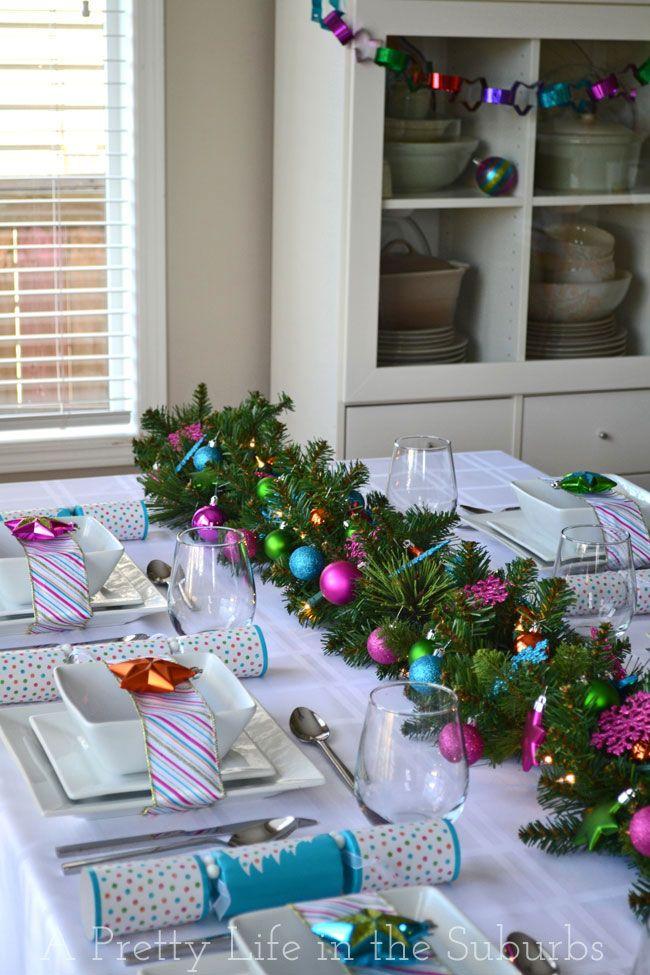 A Colourful Christmas Table!