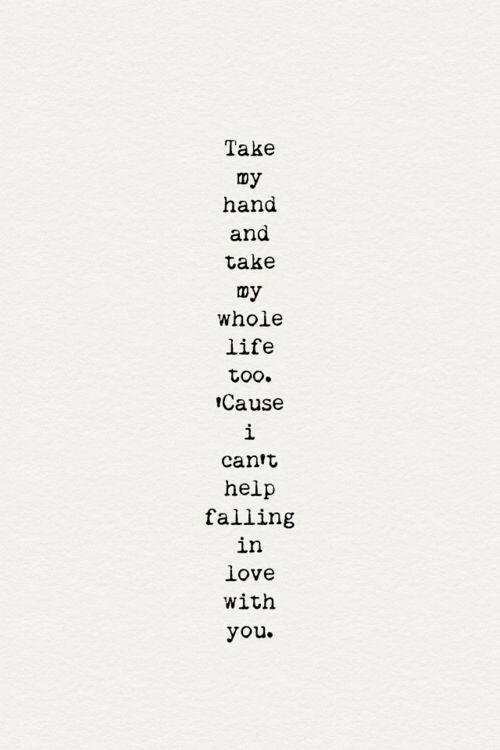 Can T Help Falling In Love Music Lyrics Songs Love Songs Lyrics