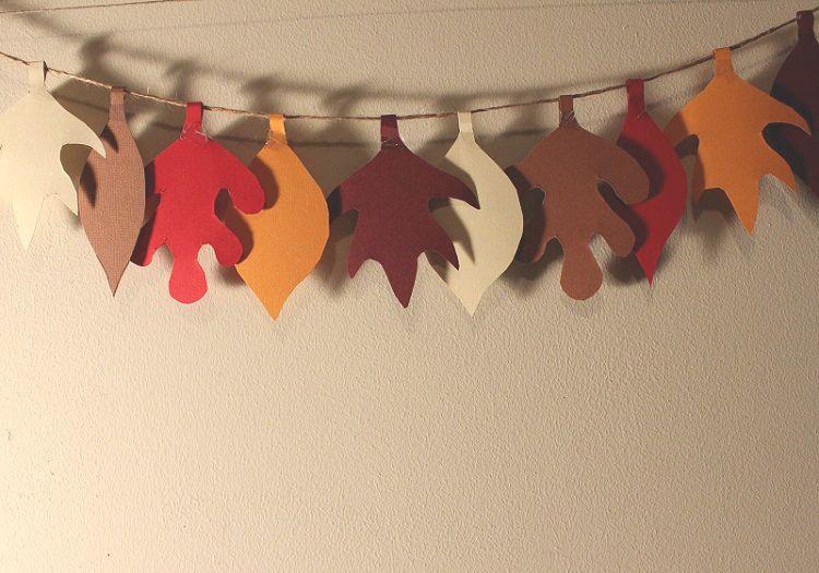 Easy Fall Leaf Garland DIY Tutorial