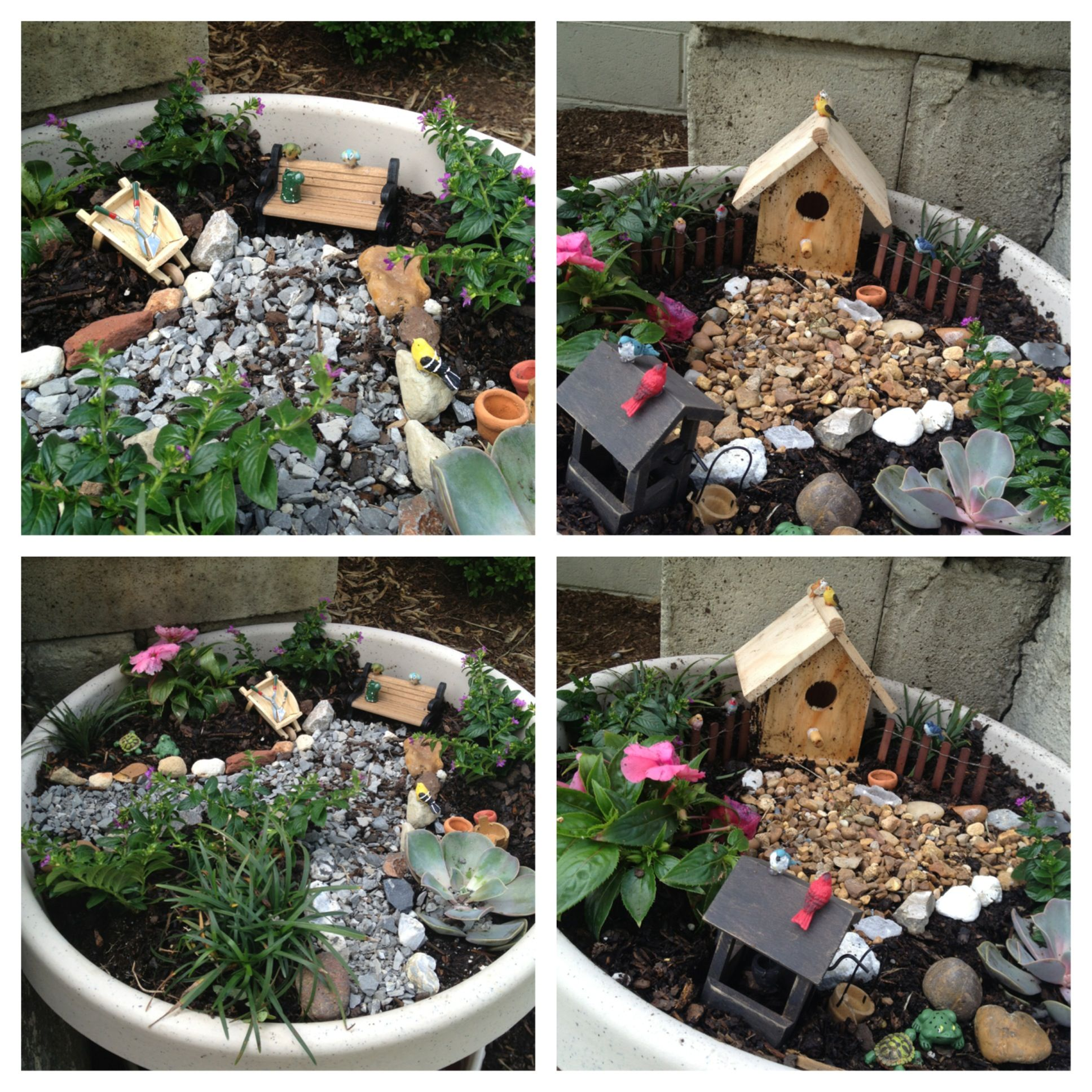 DIY fairy gardens! So cute!!!   Fairy Houses   Pinterest
