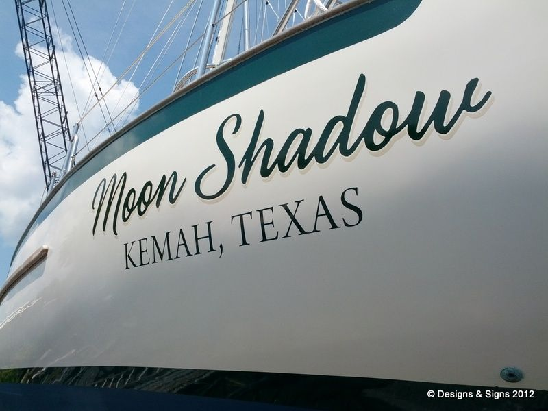 Vinyl Boat Names Moon Shadow On Httpwwwdesignsandsignsonline - Custom houseboat vinyl names