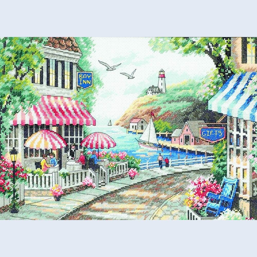 Cafe by the Sea - Dimensions counted cross stitch kit