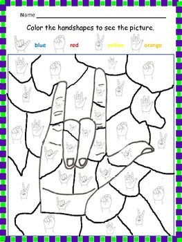 Printables Asl Worksheets 1000 images about asl on pinterest language number puzzles and apps