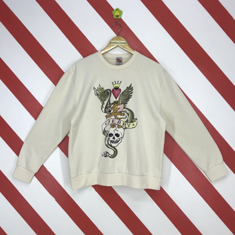 Vintage Tom And Jerry Sweatshirt Tom And Jerry Crewneck Tom Etsy Sweatshirts Ed Hardy Printed Jumpers [ 3000 x 3000 Pixel ]