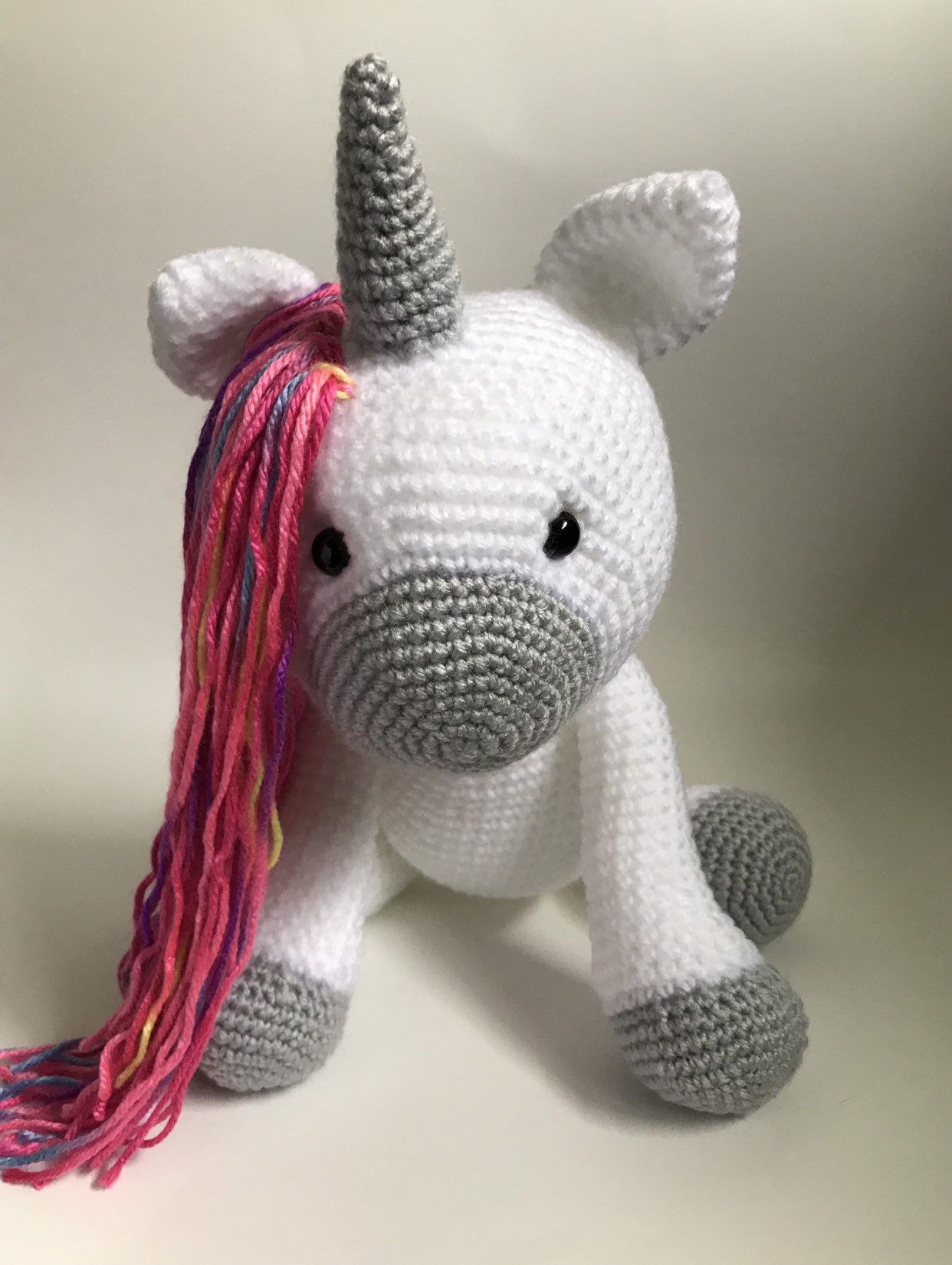 Crochet unicorn stuffed animal toy Made to order