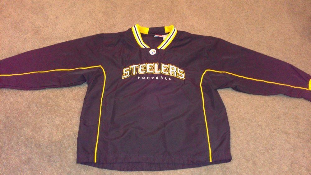 Get a #Pittsburgh #Steelers Lightweight Windbreaker #NFL Youth M 10/12 Pullover FREE USA SHIP http://www.ebay.com/itm/-/291232214967?roken=cUgayN #bigben #pitt #ebay