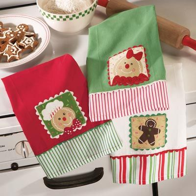 Gingerbread Christmas Kitchen Towel Set Holiday