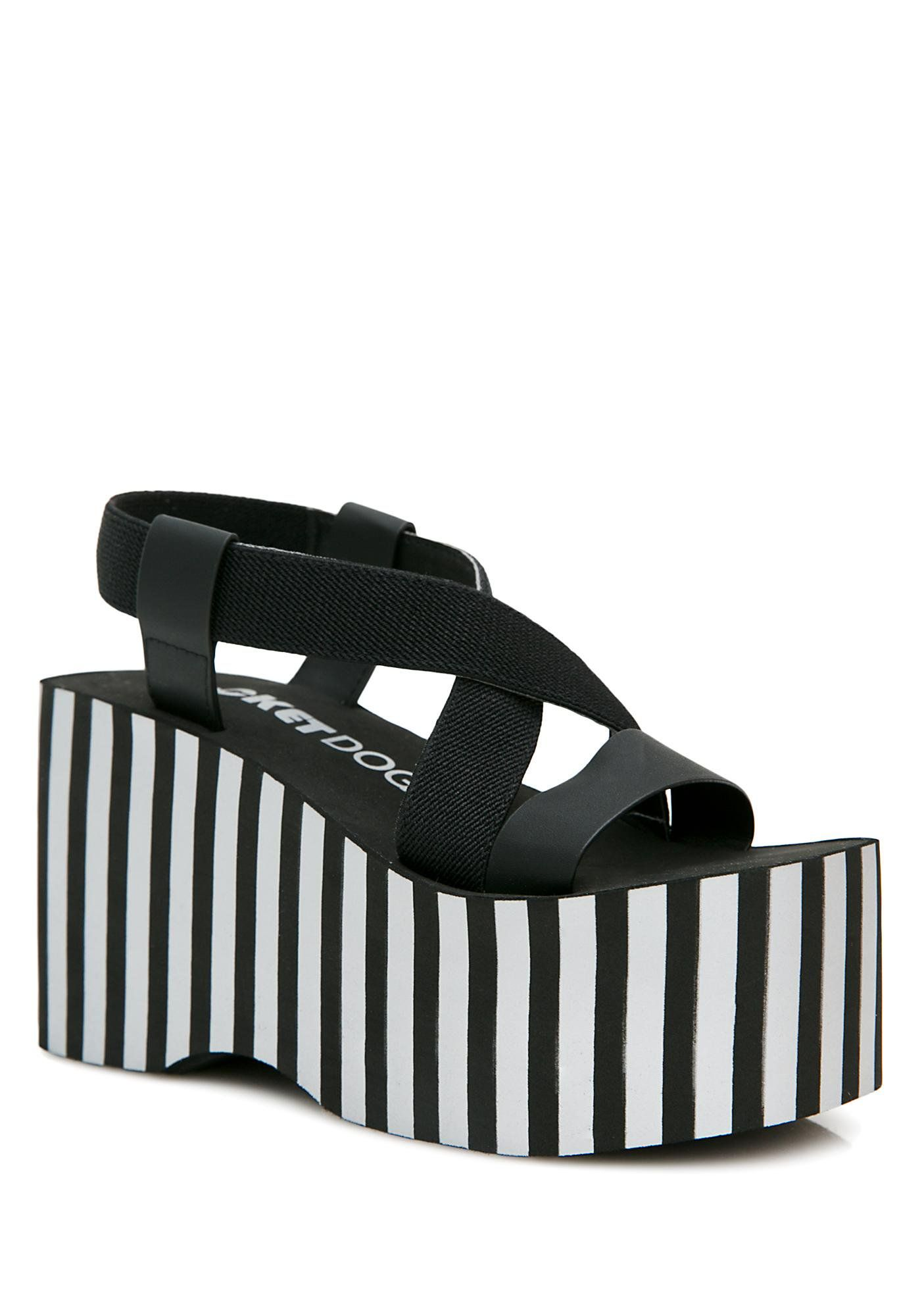 4f4bef3d44c Rocket Dog Stripe Bayer Platform Sandals