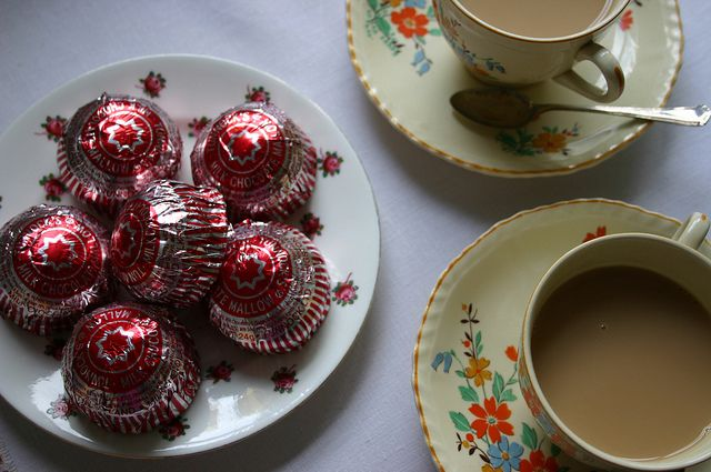teatime by found and sewn, via Flickr