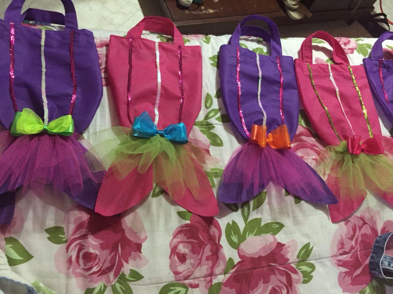 Bolsos recordatorio cumpleaños sirenita #niñas