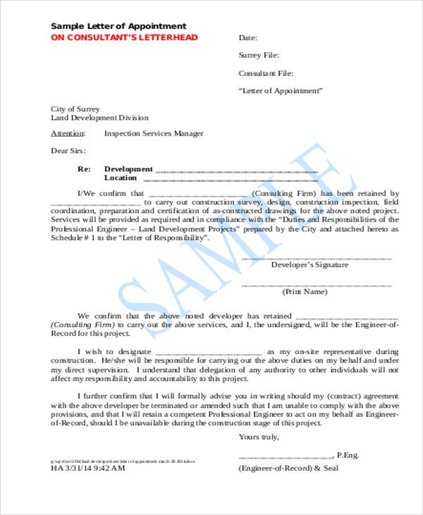 Contractor Appointment Letter Template 5 Free Word Pdf Format Download Free Premium Templates Letter Templates Free Letter Templates Lettering