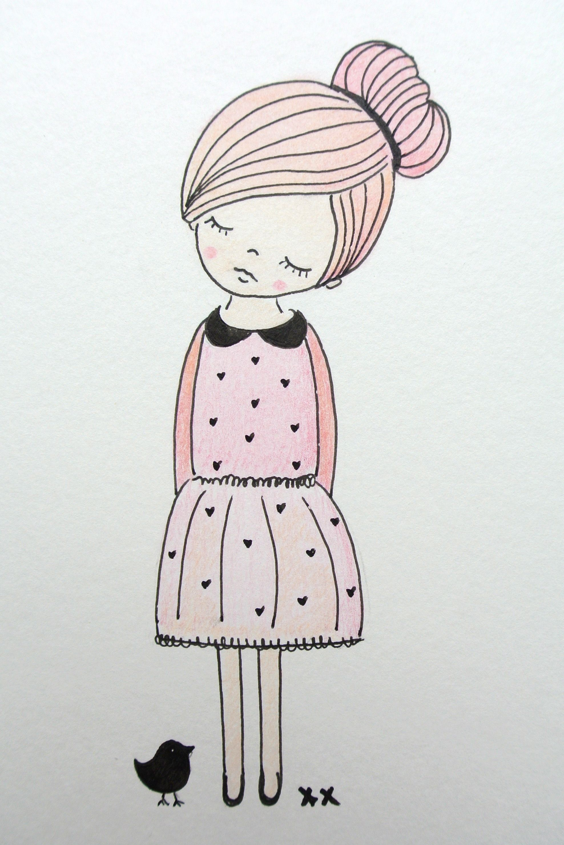 Girls room illustration kinderkamer illustratie kids for Cute hard drawings
