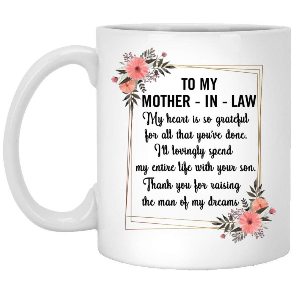 To My Mother In Law My Heart Is So Grateful Coffee Mug Decorations ...