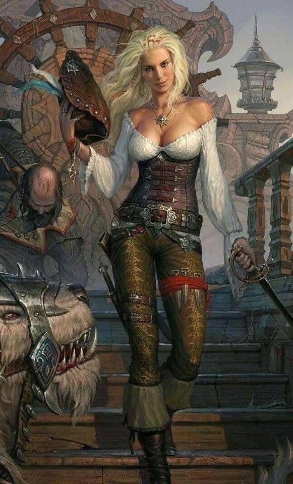 weibliche fantasy kunst frauen krieger