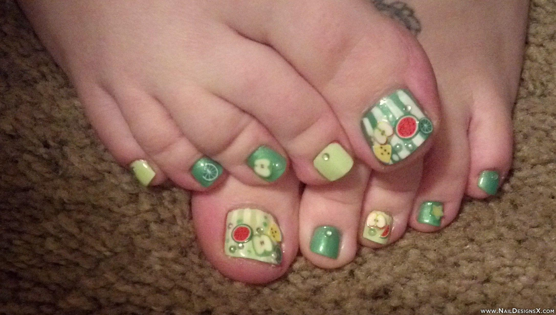 fruits toe nail art » Nail Designs & Nail Art | Toe Nail Designs ...