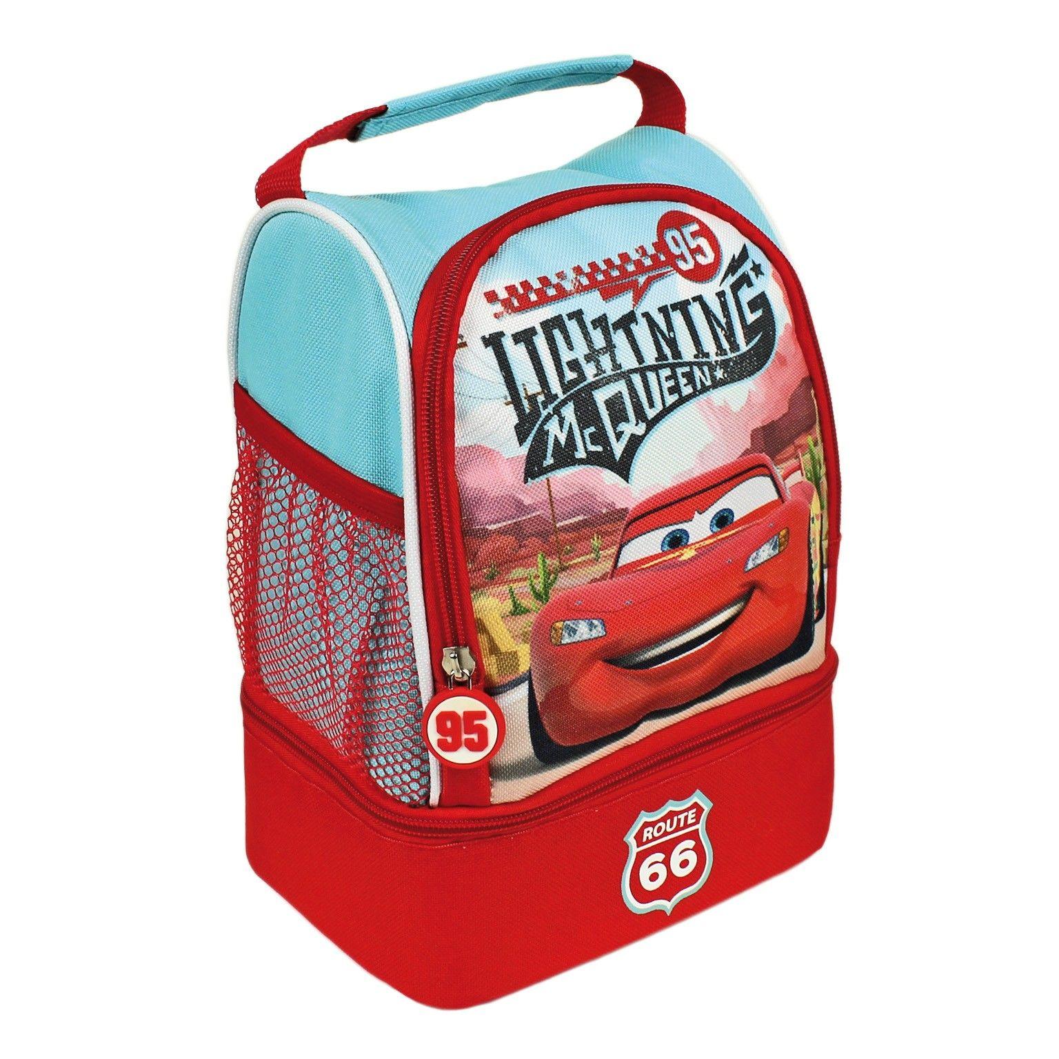 Portamerienda de Cars. Ideal para llevar los alimentos y bebidas al colegio o guardería, al parque o de viaje. En www.tinoytina.com