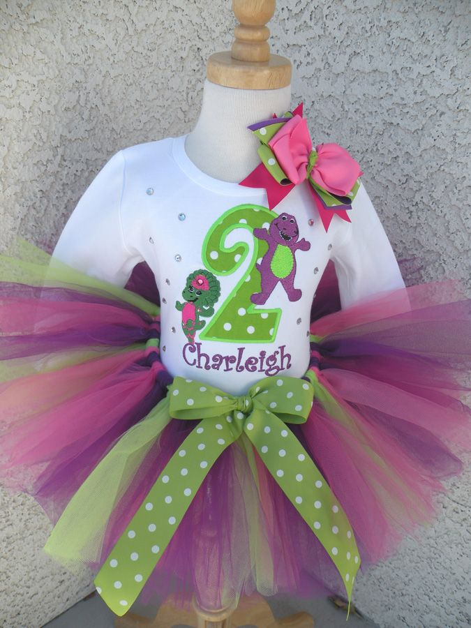 a39c8f7676 Personalized Barney and Baby Bop Birthday Clothing For Girls ...