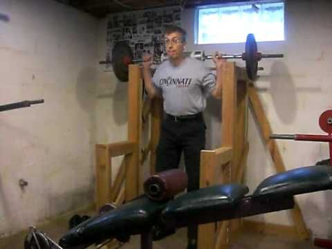 Wooden squat stands do it yourself wooden squat rack for Make a squat rack at home