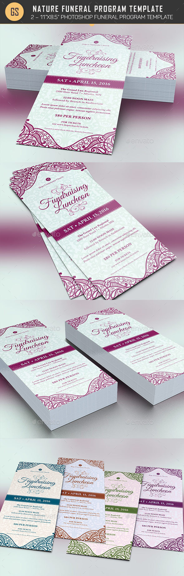 Fundraising Luncheon Flyer Template | Flyer template, Fundraising ...