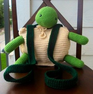 """Crochet Amigurumi Turtle Backpack / Pouch"" #Amigurumi #crochet"