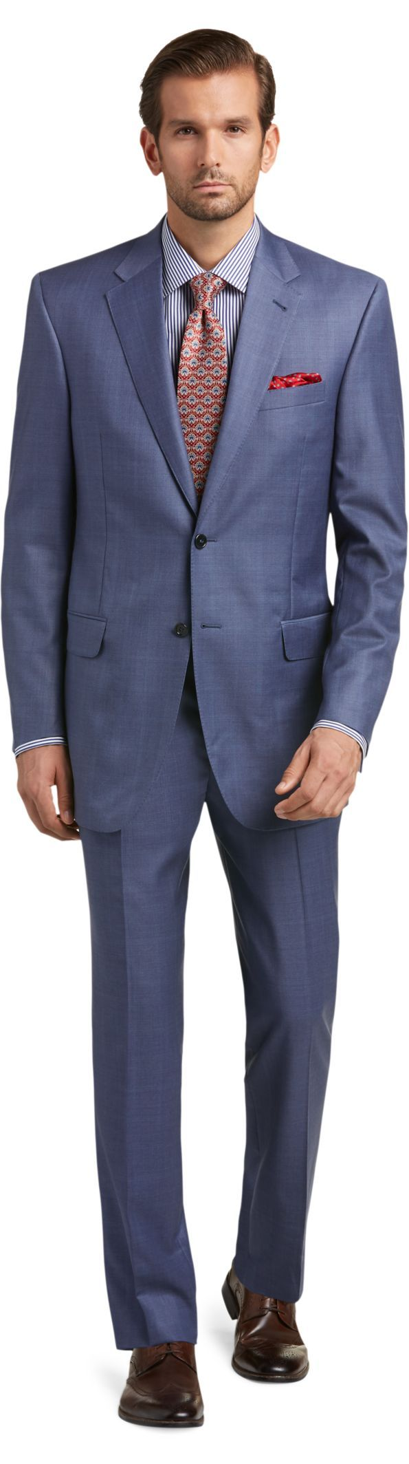 ea21794deae Signature Gold Centocinquanta Traditional Fit Herringbone Suit - Big   Tall  CLEARANCE Herringbone Suit