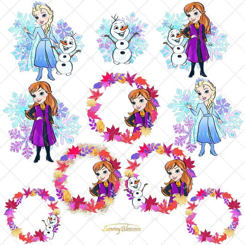 Invitations,INSTANT DOWNLOAD printable Disney Frozen 70 Character PNG Images 300 dpi Clipart Scrapbooking
