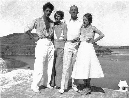 Dalí, Gala, Paul Éluard e Nusch a Port Lligat, 1931