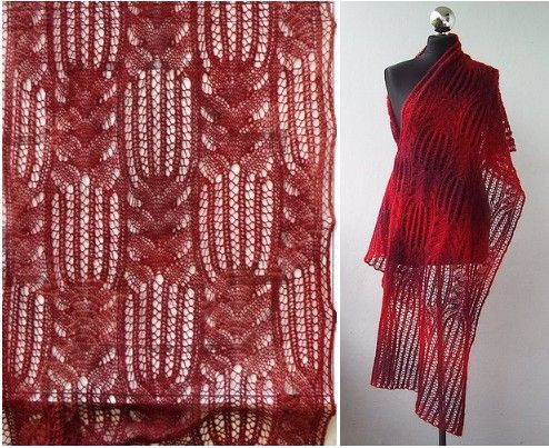 chale tricot foulard crochet. Black Bedroom Furniture Sets. Home Design Ideas