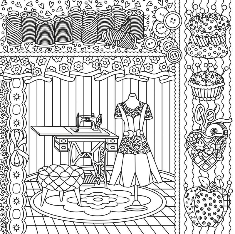 Desenho Paper Color 09 Costureira Iara Capraro Digital Embroidery Patterns Coloring Book Pages Coloring Books
