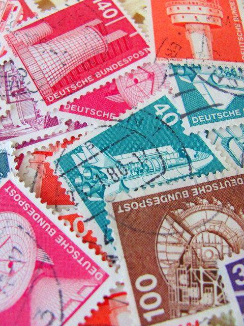 Industrial Design 50 Vintage German Postage Stamps Germany 1970 Deutschland Deutsche Bundespost Technology Engineering Worldwide Philately