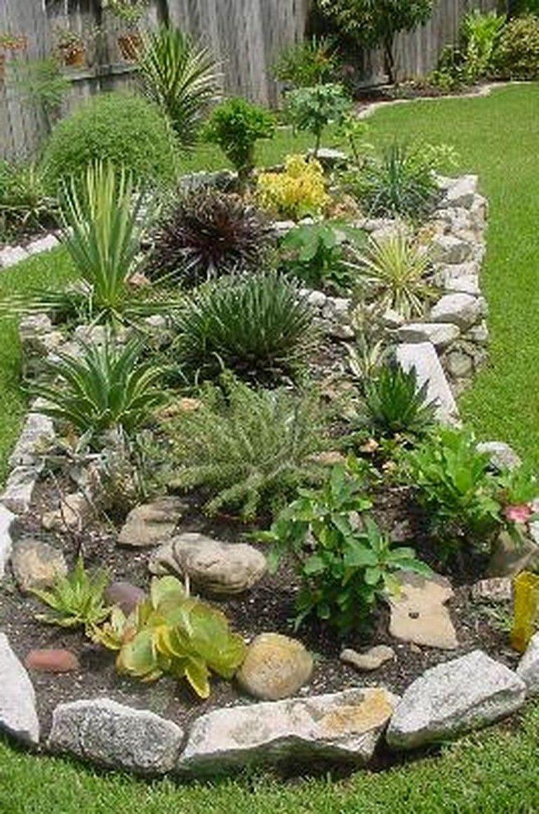 45 Texas Style Front Yard Landscaping Ideas Rock Garden Design Backyard Landscaping Succulent Landscape Design