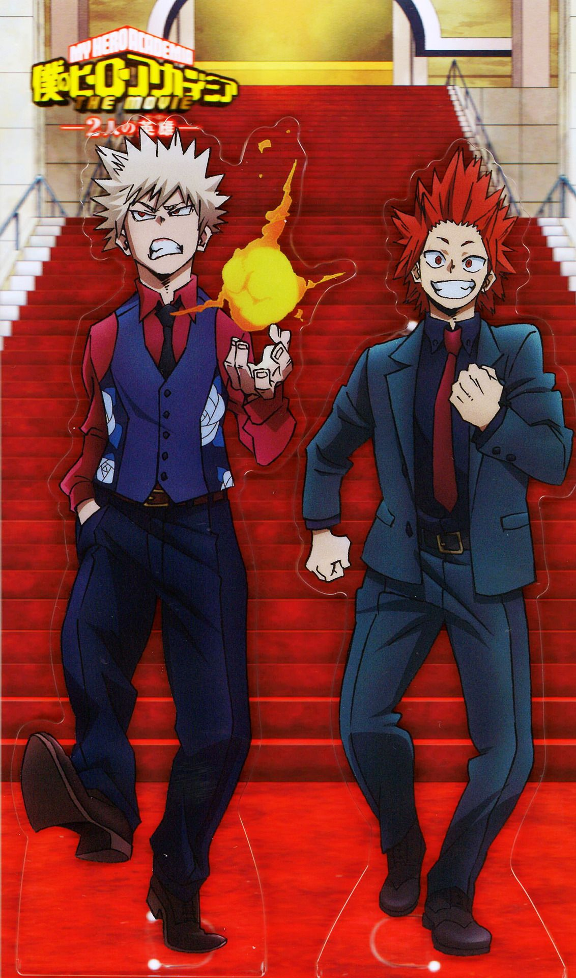 The Boku No Hero Academia Two Heroes Movie Acrylic Stands Come With A Fancy Red Carpet Backdrop And You Can Put Up Hero Movie Boku No Hero Academia My Hero