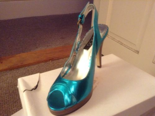 Brand new ASOS turquoise peep toe heels