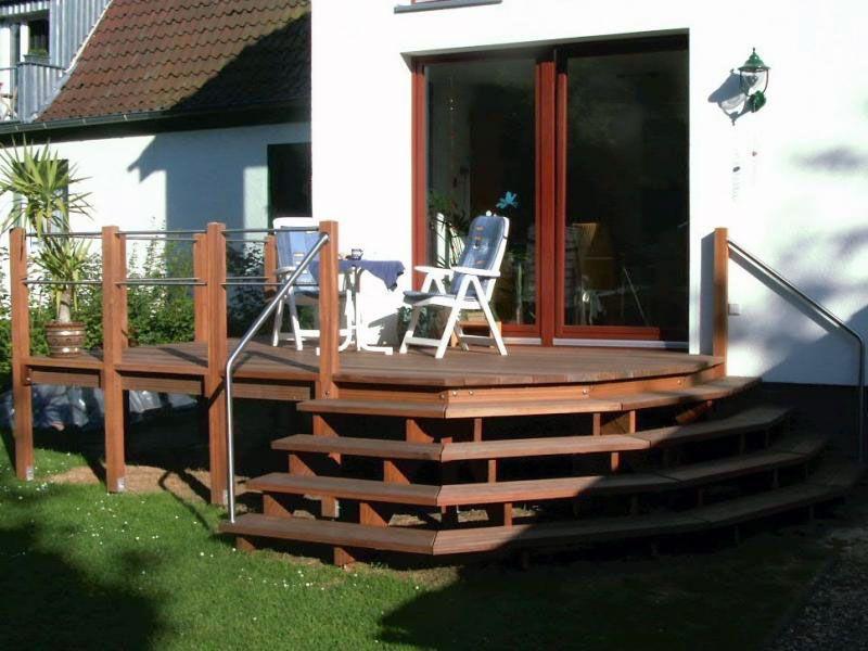 Veranda Holz holz veranda mit ausgefallener treppenform veranda aus holz