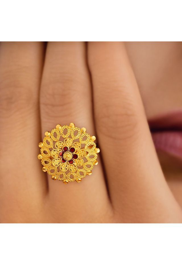 Tanishq gold ring, $326CAD | Tanishq jewellery | Pinterest | Gold ...