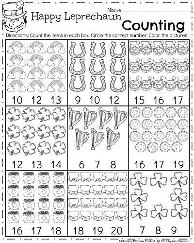 March Kindergarten Worksheets | Números, Preescolar y Actividades