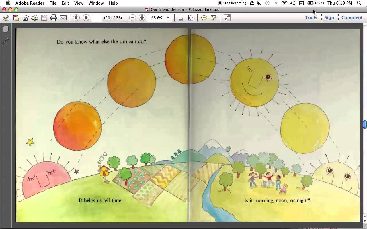 Read Aloud Of Children S Book Our Friend The Sun For Kids