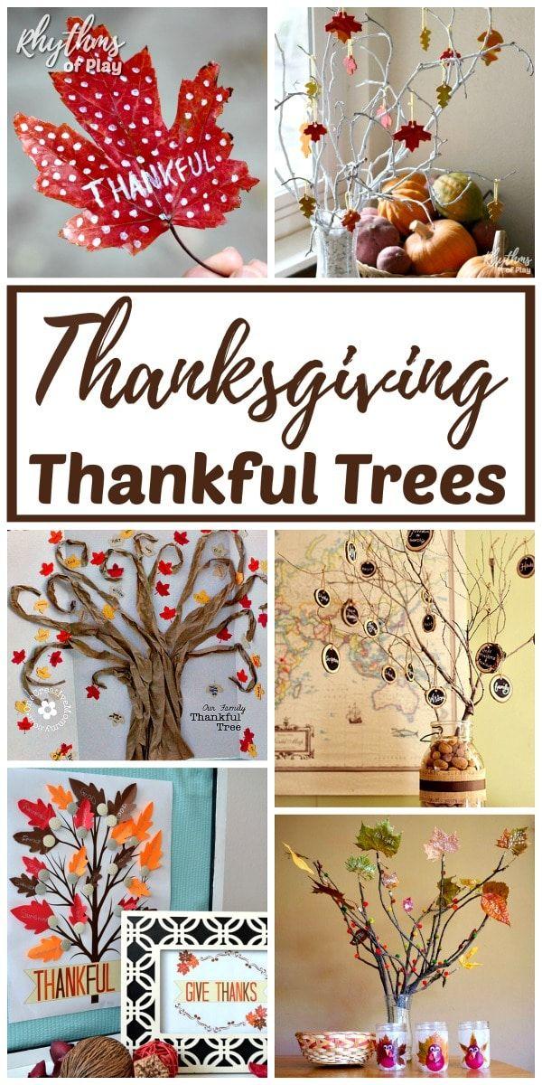 Thanksgiving Thankful Tree Tradition Ideas