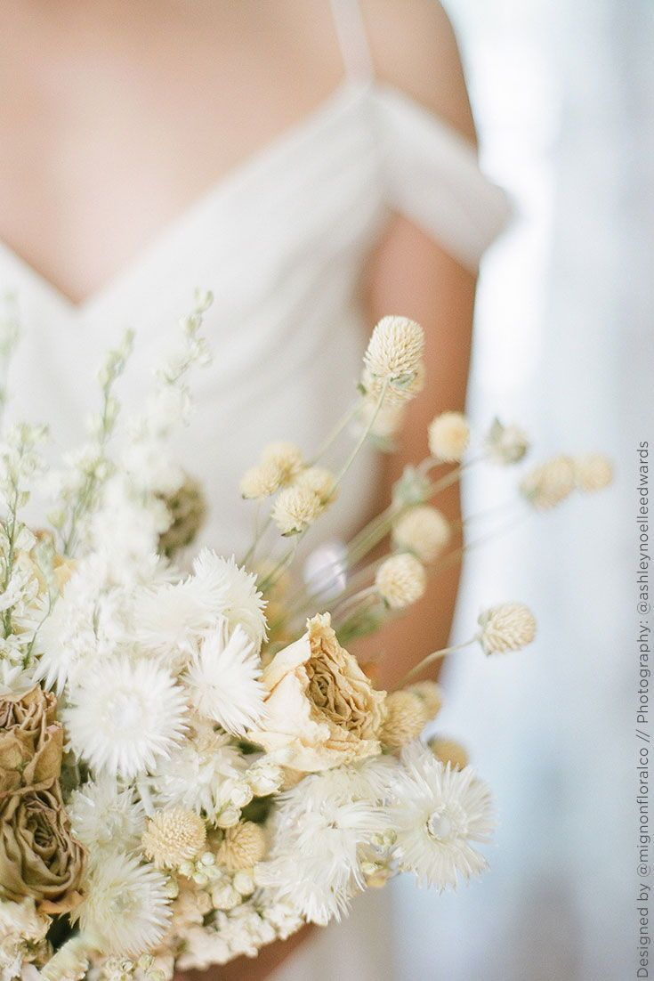 Diy Your Wedding Bouquet With Gorgeous Natural Flowers And Grasses