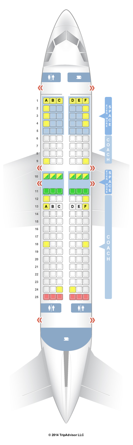 Seatguru Seat Map Jetblue Airbus A320 320 Seatguru Airbus Jetblue