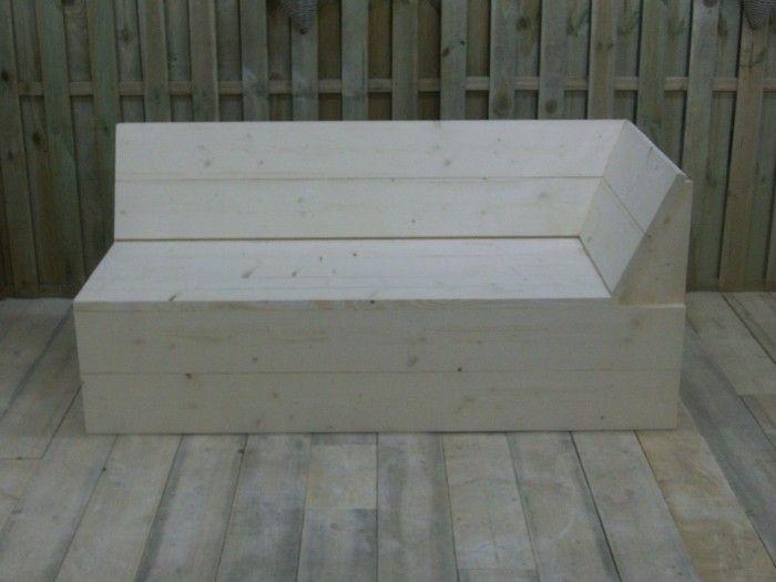 Startstuk hoekbank steigerhout bouwpakket porch for Bouwpakket steigerhout
