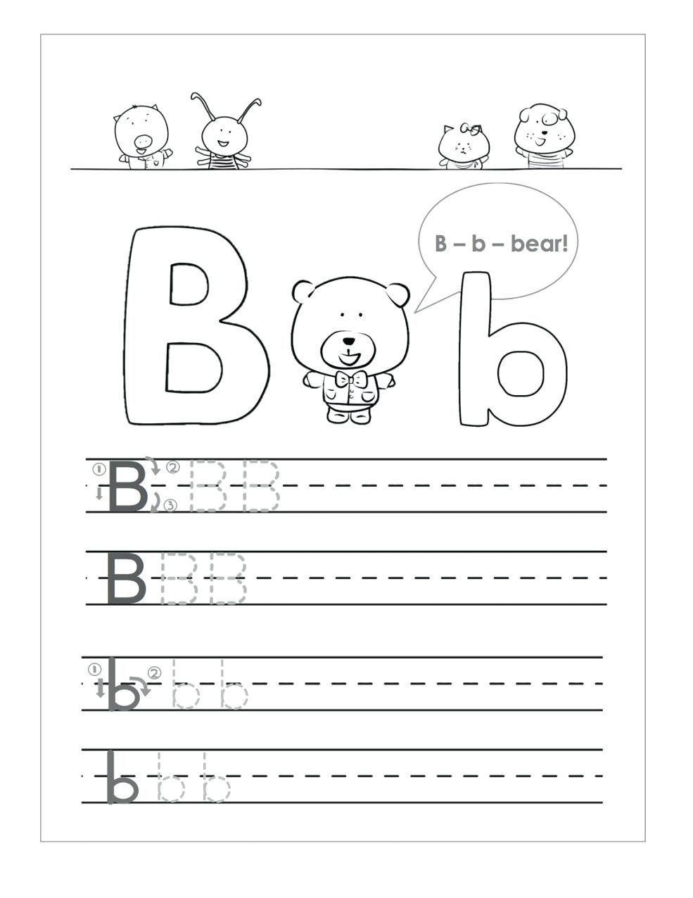 Preschool Worksheets Letter B Letter B Worksheets To Printable Letter B Worksheets In 2020 Letter B Worksheets Kindergarten Phonics Worksheets Preschool Worksheets