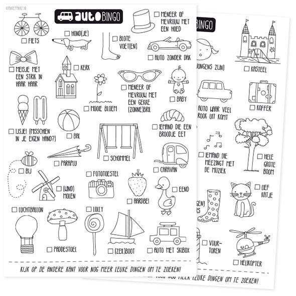 Ankepanke S Blog Nl Auto Bingo Onderweg Pinterest