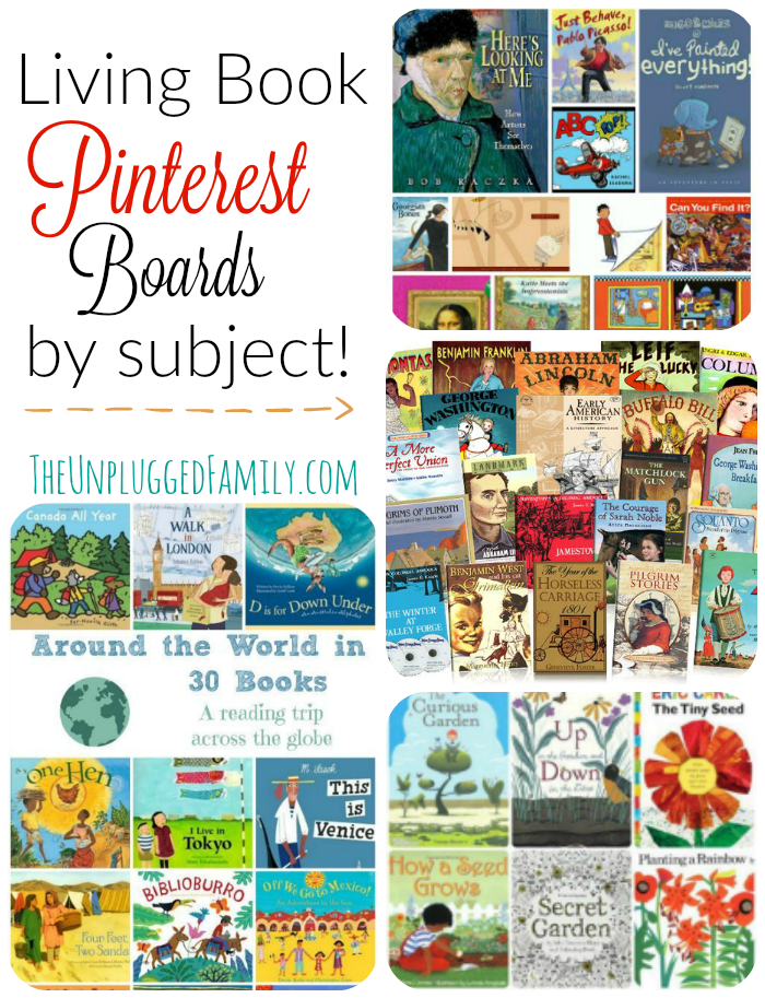 Living Book Pinterest Boards by Subject – as requested!  {Charlotte Mason Monday}, The Unplugged Family
