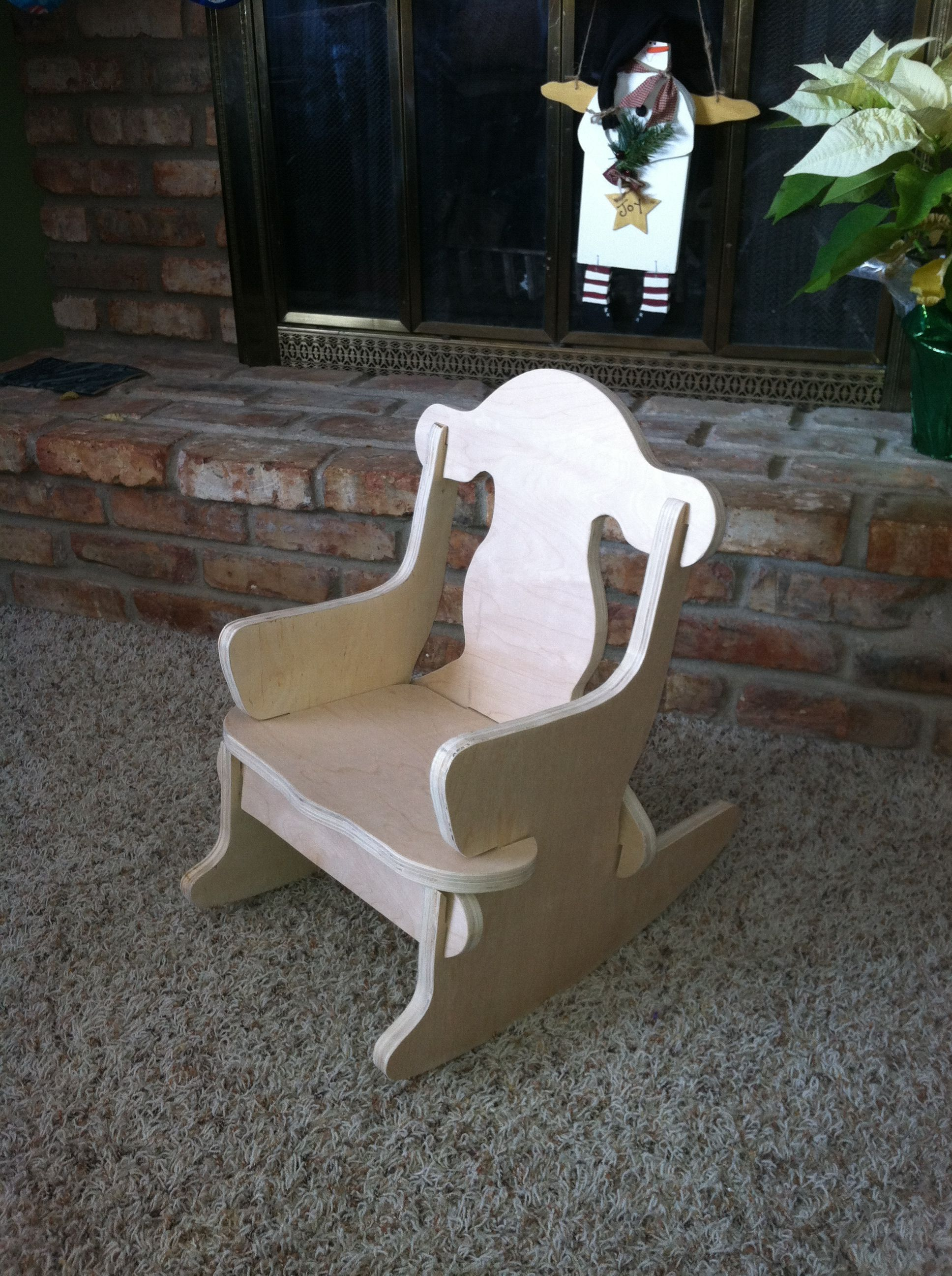 Child S Puzzle Chair No Nails Are Needed Rocking Chair